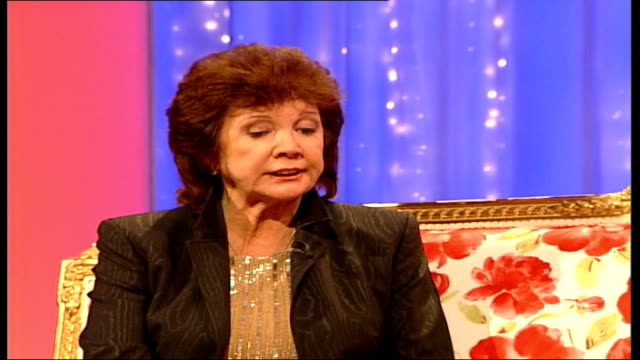 cilla black interview; england: london: int cilla black as seen being interviewed by nina nannar sot - talks about getting her first television set... - soap opera stock videos & royalty-free footage