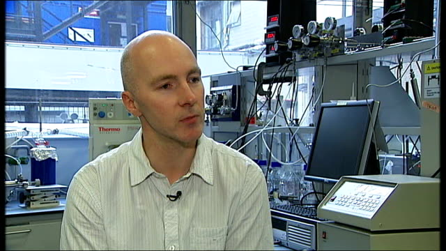 50th anniversary of first human space flight by yuri gagarin; england: london: imperial college: int mark sephton interview sot - think robots have... - 50 seconds or greater stock-videos und b-roll-filmmaterial