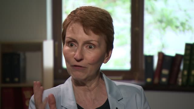 fifty years on from historic apollo 11 launch england london int helen sharman interview sot - atmosphere stock videos & royalty-free footage