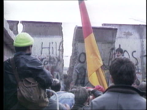 itn 50th anniversary unforgettable image itn fall of berlin wall - 1989 stock videos & royalty-free footage