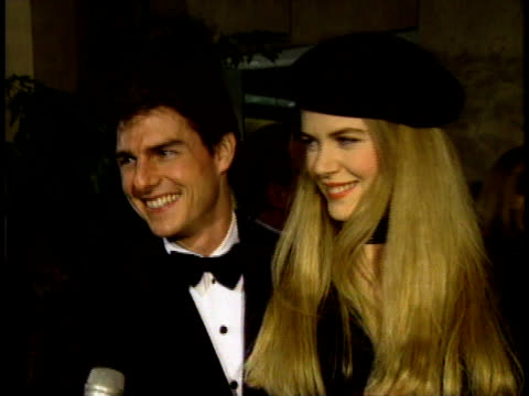 BEVERLY HILLS CALIFORNIA Tom Cruise and Nicole Kidman answering question in lobby