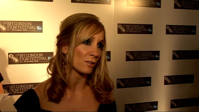 54th BFI London Film Festival interviews Joanne Froggatt interview SOT On her character in 'In Our Name' / On doing research into wars and how...