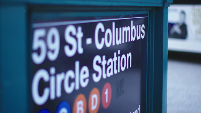 nyc 59th street train station - columbus circle stock videos & royalty-free footage