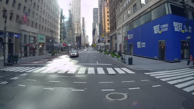 5th avenue luxury stores hit by covid-19 - fast motion stock videos & royalty-free footage