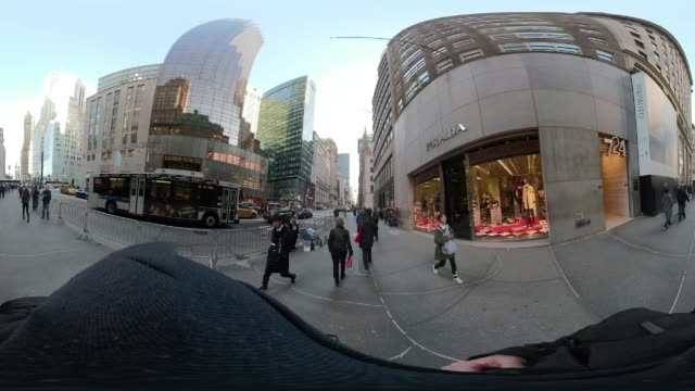 5th avenue Times Square New York City POV walking VR360
