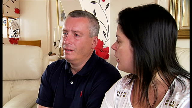 5yearold British girl drowns at Sharm elSheikh holiday resort Parents interview ENGLAND London INT Tony Johnson and Sarah Thompson setup shot