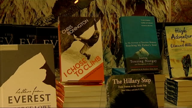 60th anniversary of the first ascent of mount everest: book signing; england: london: covent garden: int gvs books on everest expeditions / peter... - tenzing norgay stock videos & royalty-free footage