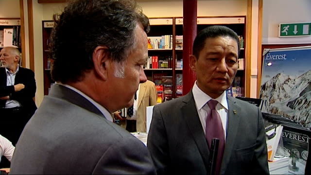 60th anniversary of the first ascent of mount everest: book signing; more peter hillary and jamling tenzing norgay interview sot / hillary and... - tenzing norgay stock videos & royalty-free footage