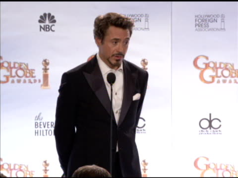 vidéos et rushes de 67th annual golden globe awards - press room, beverly hills, ca, 1/17/10 - golden globe awards