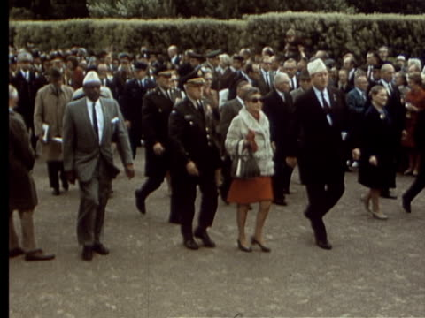 jun-1969 montage june 6 ceremonies / france - 50 seconds or greater stock videos & royalty-free footage