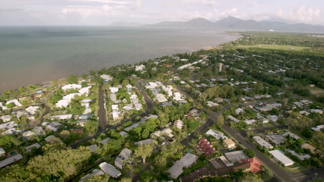 6k RED Aerial view of the coastal city of Noumea