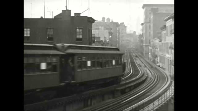 6th avenue 'l' train in new york city - högbana bildbanksvideor och videomaterial från bakom kulisserna