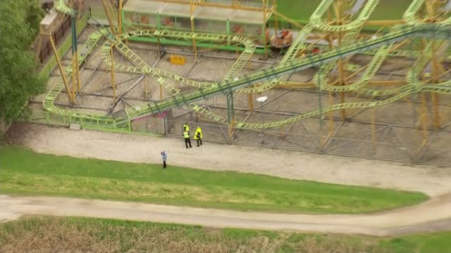 6yearold boy airlifted to hospital after incident at lightwater valley theme park in yorkshire england north yorkshire lightwater valley theme park... - roller coaster stock videos & royalty-free footage
