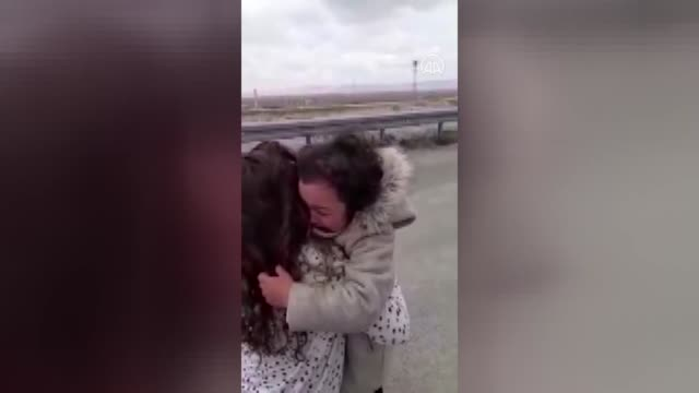 a 6yearold girl breaks into tears when she meets with her mother after onemonth separation due to coronavirus epidemic in turkey's central karaman... - crying stock videos & royalty-free footage