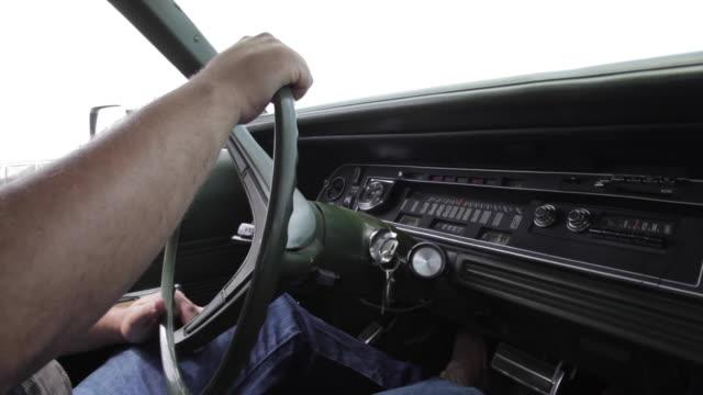 70s car steering wheel - dashboard stock videos & royalty-free footage