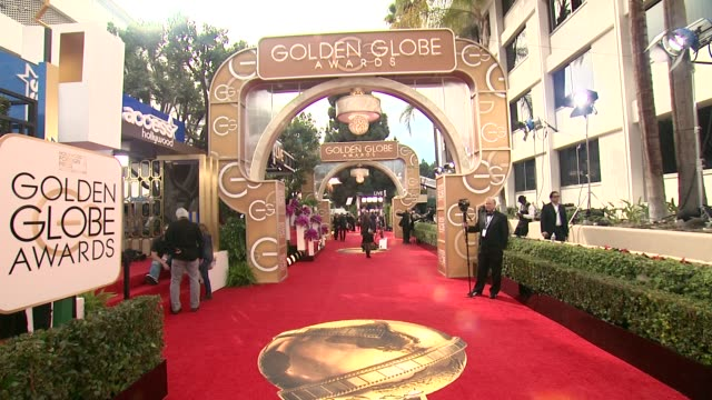 atmosphere 71st annual golden globe awards arrivals at the beverly hilton hotel on in beverly hills california - アトモスフィア点の映像素材/bロール