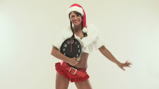 hd 720p30: sexy mrs. santa - mrs claus stock videos and b-roll footage