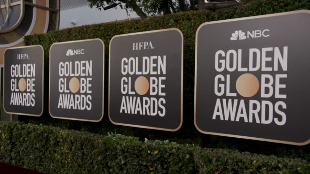 atmosphere 77th annual golden globe awards at the beverly hilton hotel on january 05 2020 in beverly hills california - golden globe awards stock videos & royalty-free footage