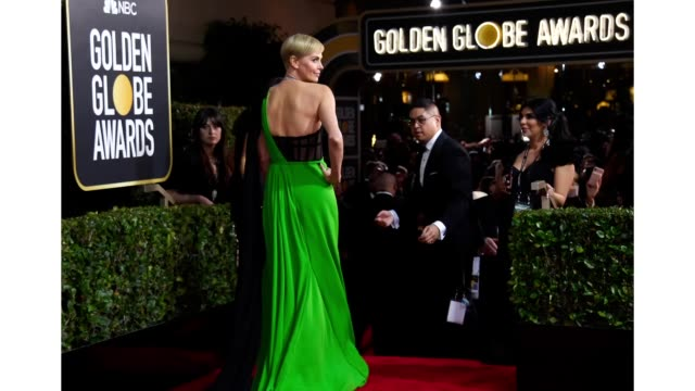 77th annual golden globe awards -- pictured: charlize theron arrives to the 77th annual golden globe awards held at the beverly hilton hotel on... - golden globe awards stock videos & royalty-free footage