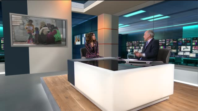 7th anniversary of start of civil war / hundreds flee violence in eastern ghouta england london gir int mylene klass live studio interview sot... - itv lunchtime news stock videos & royalty-free footage