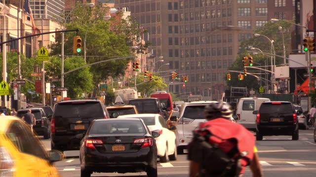 7 th アベニュー マンハッタンの - 固定撮影点の映像素材/bロール
