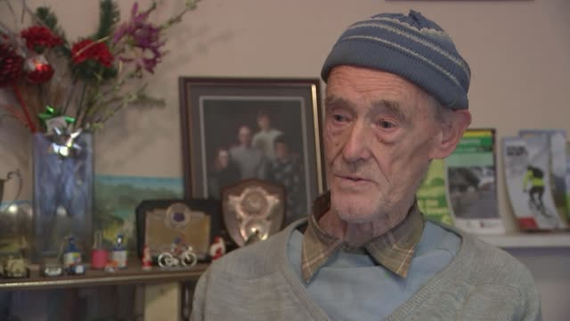 year-old cyclist russ mantle to be first brit to cycle one million miles; england: hampshire: aldershot: russ mantle interview sot close shots of... - offbeat stock videos & royalty-free footage