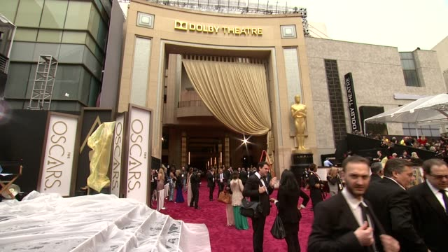 86th annual academy awards - arrivals at hollywood & highland center on march 02, 2014 in hollywood, california. - academy awards stock videos & royalty-free footage