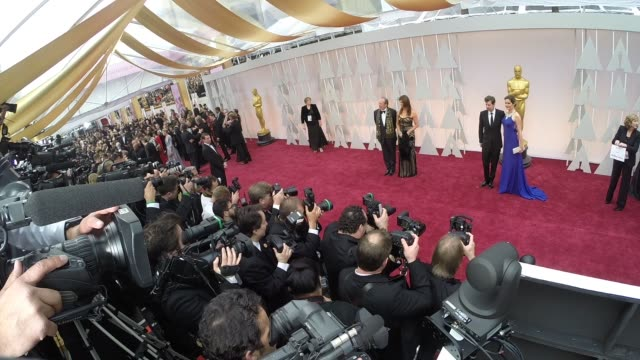 vídeos de stock e filmes b-roll de 87th annual academy awards arrivals timelapse part 2 on february 22 2015 in hollywood california - cerimónia dos óscares