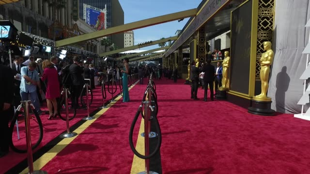 88th annual academy awards - arrivals at hollywood & highland center on february 28, 2016 in hollywood, california. - academy awards stock videos & royalty-free footage