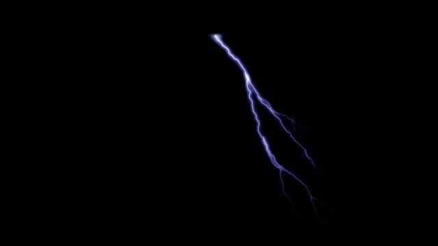 vidéos et rushes de 8_various lightnings 4k black fond - éclair
