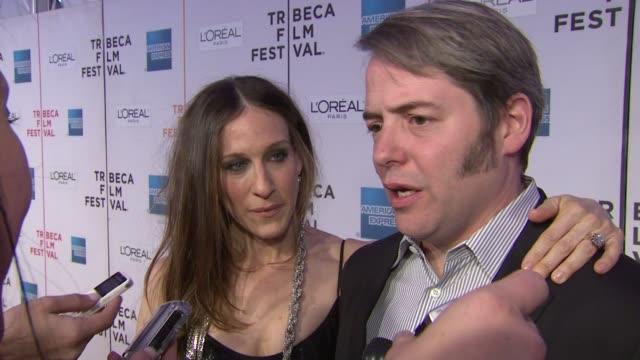 8th annual tribeca film festival 'wonderful world' premiere new york ny 4/27/09 - matthew broderick stock videos & royalty-free footage