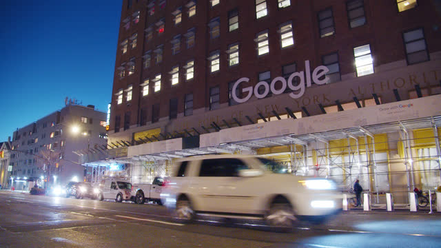 111 8th ave. google. office building - big data stock videos & royalty-free footage