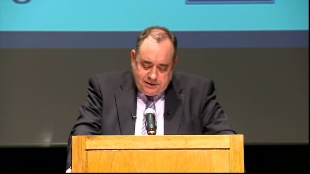 alex salmond speech salmond speech sot in truth it is absurd to suggest that an independent scotland would struggle to make its own way economically... - 2006 stock videos & royalty-free footage