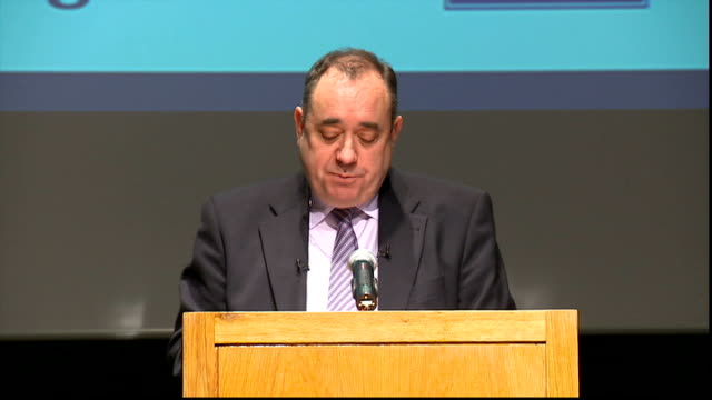 8th hugo young lecture: alex salmond speech; salmond speech sot - the paper will also make clear that we intend the referendum to be overseen,... - member of the scottish parliament stock videos & royalty-free footage