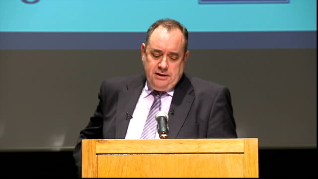 alex salmond speech salmond speech sot the argument currently being adopted by some people –people who have always opposed a referendum full stop... - addition key stock videos & royalty-free footage