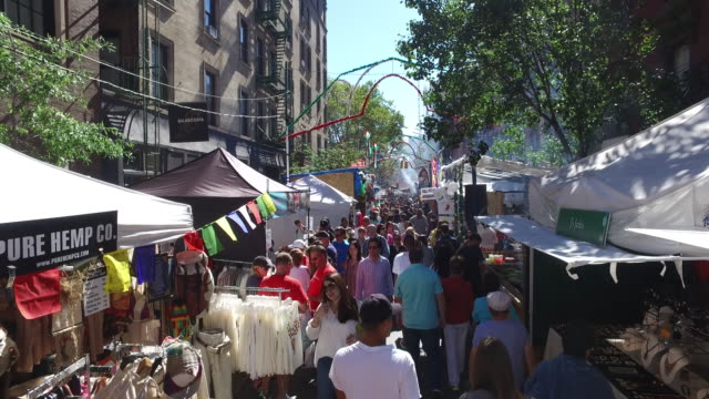 90th annual feast of san gennaro - traditional festival stock videos & royalty-free footage