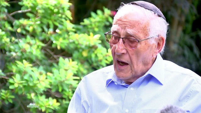 93yearold former nazi concentration camp guard bruno dey convicted england ext manfred goldberg interview sot - former stock videos & royalty-free footage