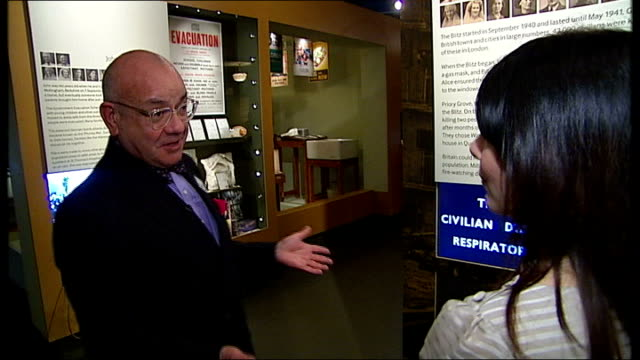 stockvideo's en b-roll-footage met 93yearold veteran's wartime home recreated at the imperial war museum charman interview sot - imperial war museum museum