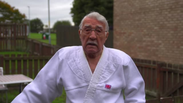 year-old man given judo's highest honour; england: northumberland: int jack hearn set up shots / speaking to nekoda smythe-davis via web sot ext jack... - martial arts stock videos & royalty-free footage