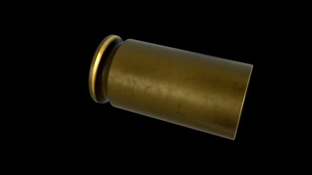 9mm rotating shell pack (loops+matte) - cartridge stock videos and b-roll footage