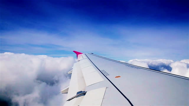 a beautiful journey between the clouds - boeing 737 stock videos & royalty-free footage