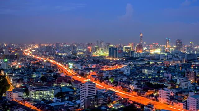a bird's eye view of Bangkok city