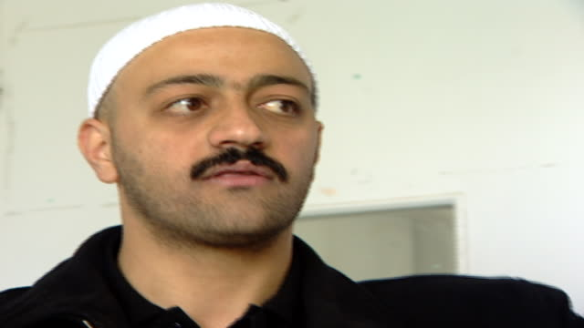of a druze sheikh's face lecturing a classroom on civic rights. irfan is a druze religious school with five branches in lebanon that operate as ngos. - theology stock videos & royalty-free footage