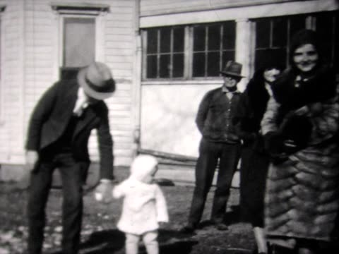 1931 a group of friends with mom and baby - 1931 stock videos & royalty-free footage