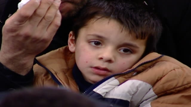 cu of a little shiite boy attending the ashura commemoration ashura is the 10th day of muharram in the islamic calendar commemorating the death of... - ashura muharram stock videos & royalty-free footage