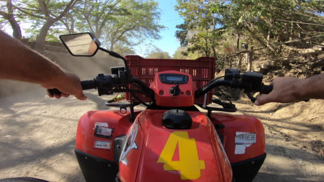 pov of a man driving an atv quad motorized vehicle. - time-lapse - quadbike stock videos & royalty-free footage