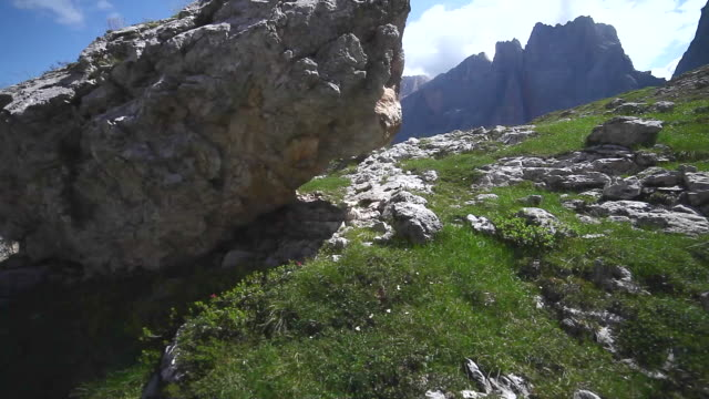 pov of a man hiking on a trail in the mountains. - goodsportvideo stock videos and b-roll footage