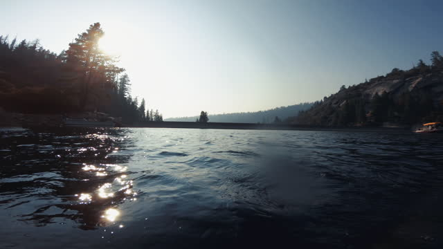 pov of a man swimming in recreational lake - river merced stock videos & royalty-free footage