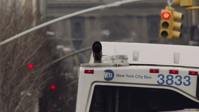 cu of a mta buses exhaust pipe. - air pollution stock videos & royalty-free footage