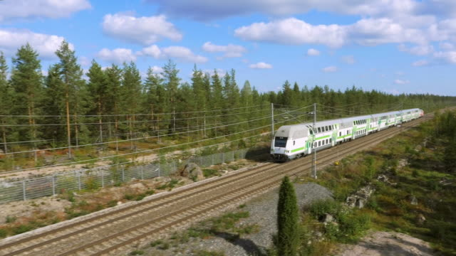 stockvideo's en b-roll-footage met a train passing by at full speed, finland - finland